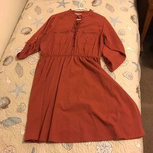 Burnt orange casual dress